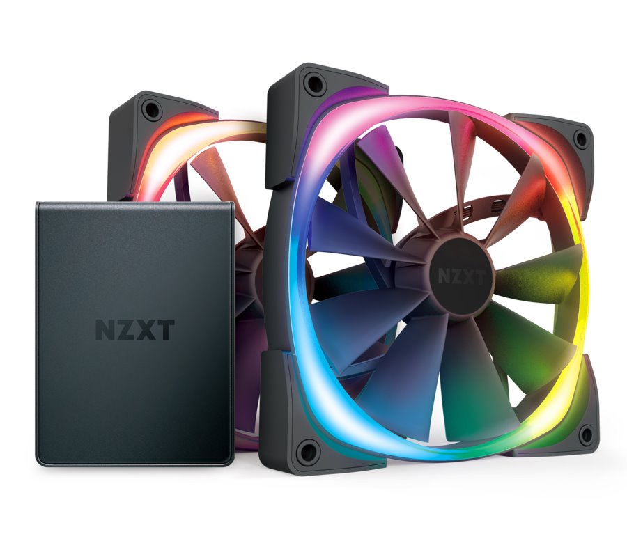 NZXT ventilátor Aer RGB 2 Series Twin Starter kit / HF-2812C-D1 / HUE 2 / 2x 120 mm / 22 – 33 dBA / 4-pin