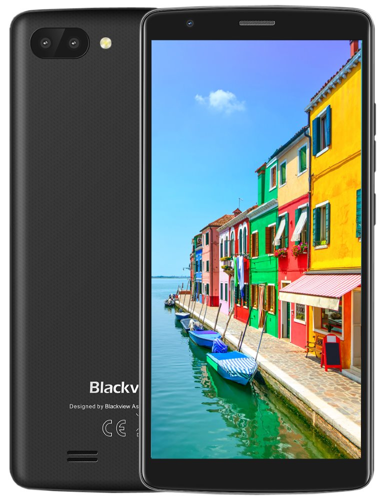 "iGET Blackview GA20 Black 5,5"" IPS, Quard-Core, Dual SIM, 1GB + 8GB, 5 MPx + 2 MPx, duální kamera,, Android 8.1"