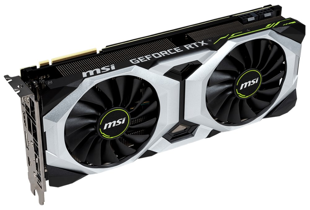 MSI GeForce RTX 2080 VENTUS 8G OC / 8GB GDDR6 / PCI-E / 3x DP / HDMI / USB Type-C