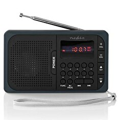 Rádio NEDIS RDFM2100GY BLACK/GREY