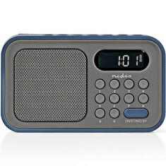 Rádio NEDIS RDFM2200BU GREY/BLUE