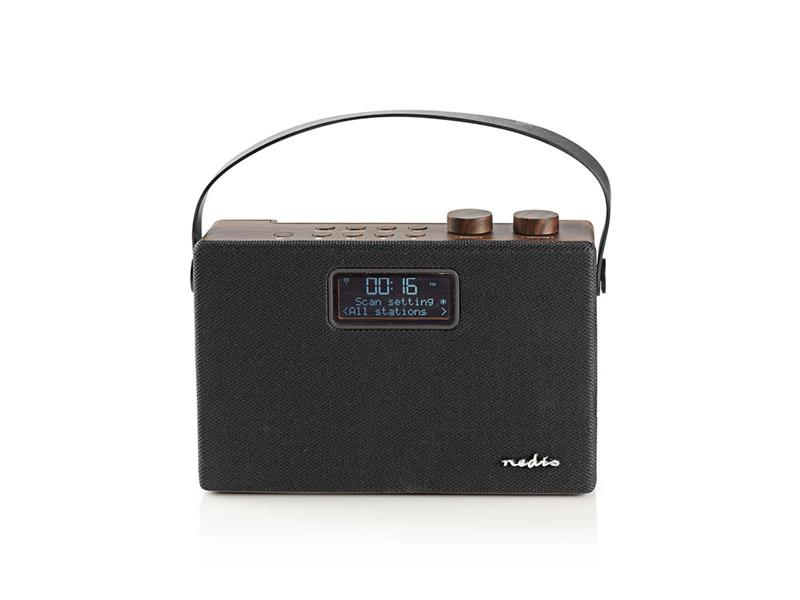 Rádio FM / DAB+ / BLUETOOTH NEDIS RDDB4320BN BROWN / BLACK