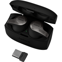 Jabra Evolve 65t, Titanium Black, MS (USB dongle)