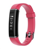"UMAX U-Band 120HR Red - 0.87"" Displej, USB port na modulu, BT, Baterie 45mAh"