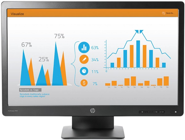 "HP LCD ProDisplay P232 LED 23""wide, (1920x1080, 5ms, 1000:1, 5000000:1 dynamic, 250 nits VGA, DP)"
