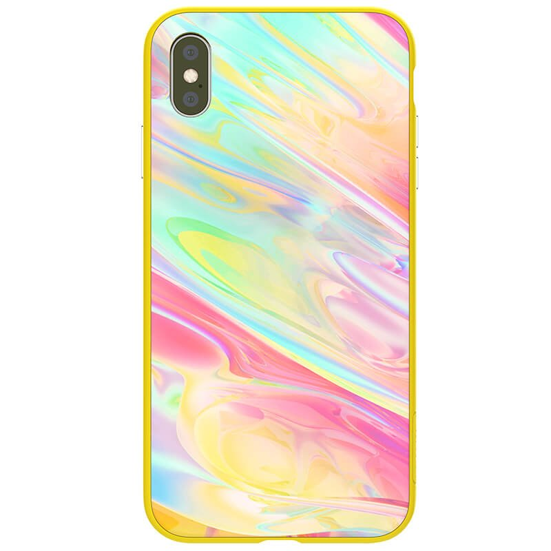 Nillkin Ombre Hard Case Yellow pro iPhone XR