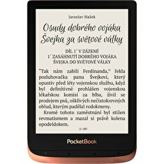 "POCKETBOOK e-book reader 632 Touch HD 3/ 16GB/ 6""/ Wi-Fi/ micro USB/ čeština/ Spicy Copper"
