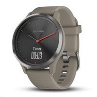 Garmin vívomove Optic Sport Black, Sandstone band