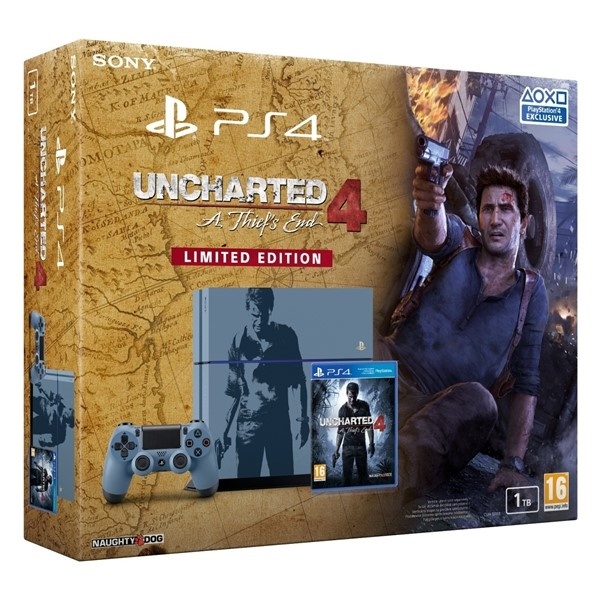 Sony PlayStation 4 1TB + Uncharted 4: A Thief's End Limited Edition