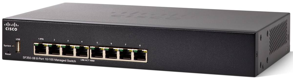 Cisco SF350-08 8-port 10/100 Managed Switch REFRESH