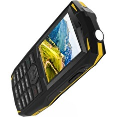 iGET GBV1000 Yellow - odolný telefon IP68, DualSIM, 3000 mAh, Bluetooth 3.0, svítilna, FM, MP3