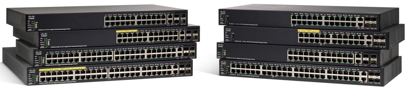 Cisco SF550X-24MP 24-port 10/100 PoE Stackable Switch REFRESH