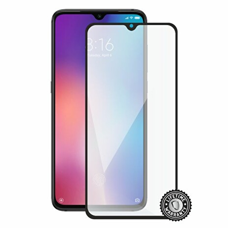 Screenshield XIAOMI Mi 9 Tempered Glass protection (full COVER black)