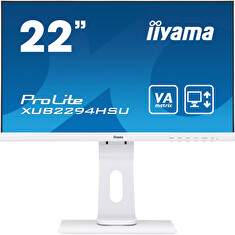 "22"" iiyama XUB2294HSU-W1: VA, FullHD@75, 250cd/m2, 4ms, VGA, HDMI, DP, USB, height, pivot, bílý"