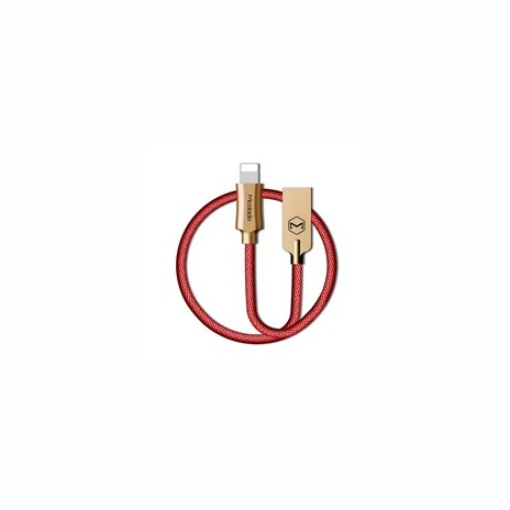 Mcdodo Knight Series USB AM To Lightning Data Cable (1.2 m) Red