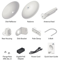 UBNT airMAX PowerBeam5 AC 2x27dBi, 2-PACK [500mm, Client/AP/Repeater, 5GHz, 802.11ac, 10/100/1000 Ethernet, vč.radomu]