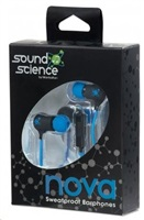 Manhattan sluchátka Sound Science Nova Sweatproof Earphones BLACK-BLUE