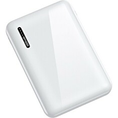 USAMS US-CD104 Dual USB Power Bank 5000mAh White