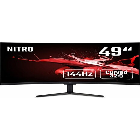 "49"" Acer Nitro EI491CRP - VA, 4K@144Hz, 4ms, 400cd/m2, 32:9, HDMI, DP, FreeSync, Repro"
