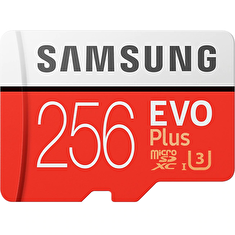 Micro SDXC 256GB Samsung EVO Plus + SD adaptér
