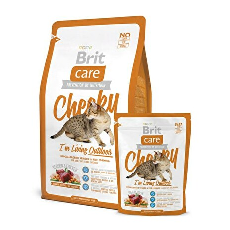 Granule BRIT CARE CAT CHEEKY I'M LIVING OUTDOOR 7 kg