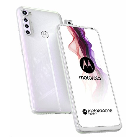 Motorola One Fusion+ gsm tel. Moonlight White