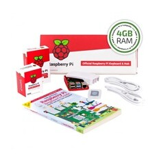 Raspberry Pi 4B/4GB Desktop Kit, malinový/bílý