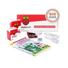 Raspberry Pi 4B/8GB Desktop Kit, malinový/bílý