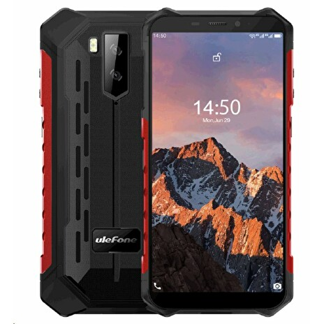 UleFone Armor X5 PRO DS 4+64GB gsm tel. Red