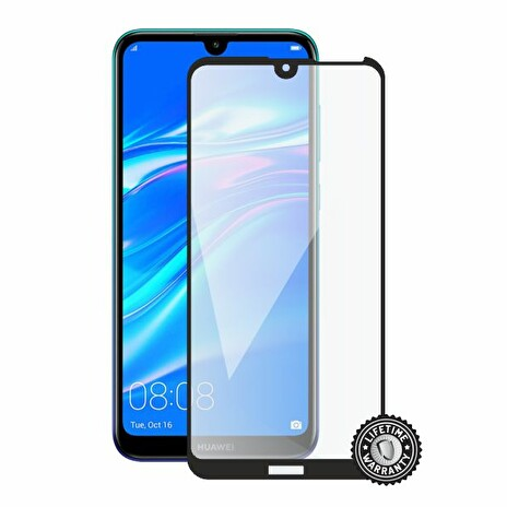 Screenshield HUAWEI Y7 (2019) Tempered Glass protection (full COVER black)