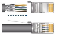 UBNT TOUGHCable Carrier [Level 2, SFTP kabel, drát, outdoor, CAT5e, 24AWG, 305m]