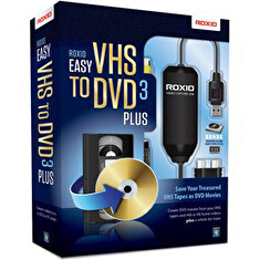 Roxio Easy VHS to DVD 3 Plus BOX - jazyk EN/FR/DE/ES/IT/NL