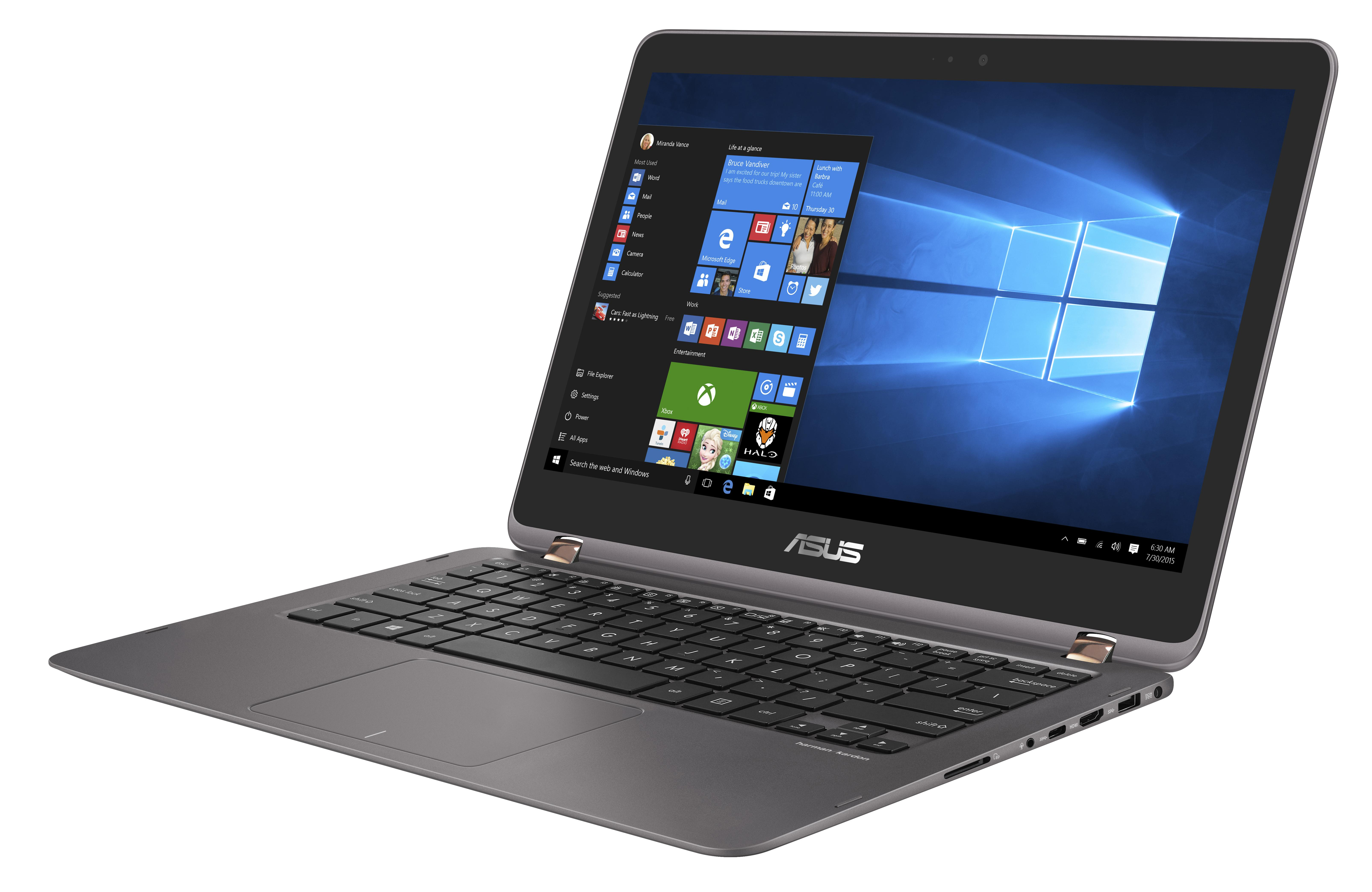 "ASUS NB UX360UA - i5-6200U@2.3GHz, 13.3"" LED FHD touch, intel HD, 8GB, 512G SSD, WiFi, BT, W10, šedá"