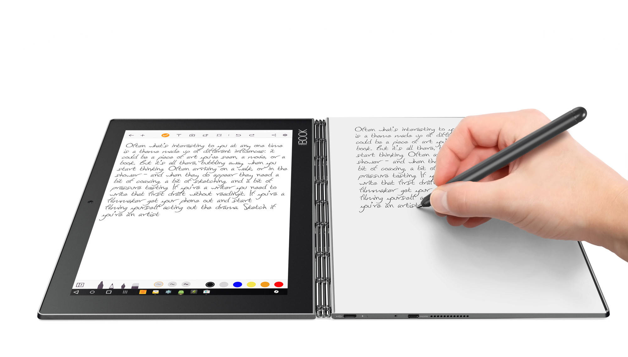"Lenovo YOGA BOOK AND LTE Atom x5-Z8550 2,4GHz/10,1"" FHD/IPS/multitouch/4GB/64GB/CreatePad/Halo KBRD/Android 6 šedá"