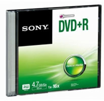 SONY DVD+R 4,7GB Slim case (120 min)
