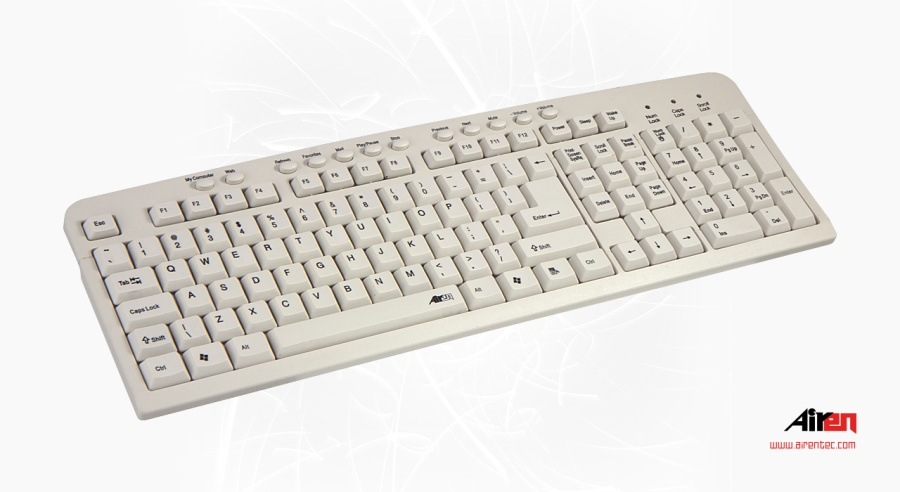 AIREN KEYBOARD AiBoard Multi White PC Color CZ (AIREN AB-MULTIW)