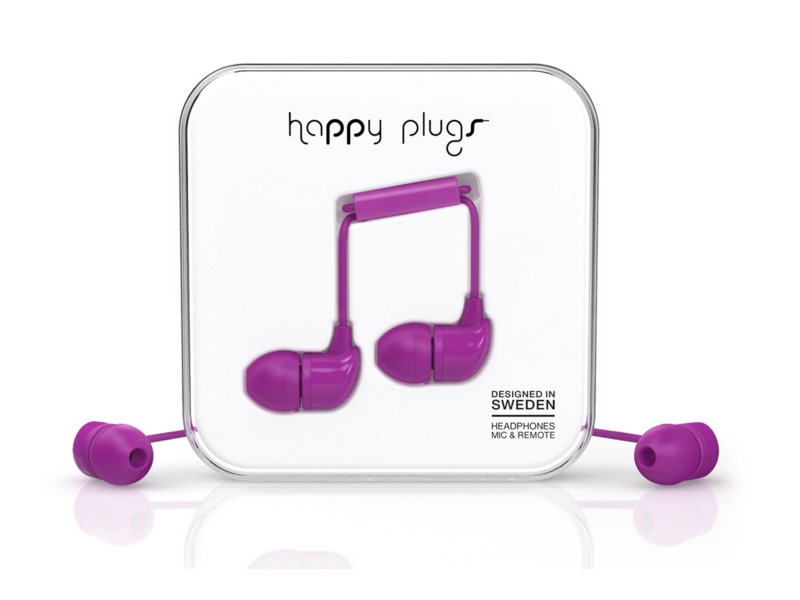 Happy Plugs In-Ear Purple sluchátka/mikrofon/příjem hovoru/3,5mm