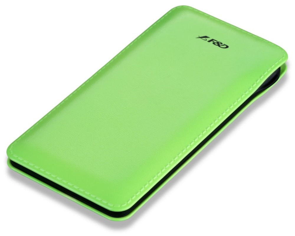 FENDA F&D Power bank Slice T2/ 8000 mAh/ zelená/ design kůže