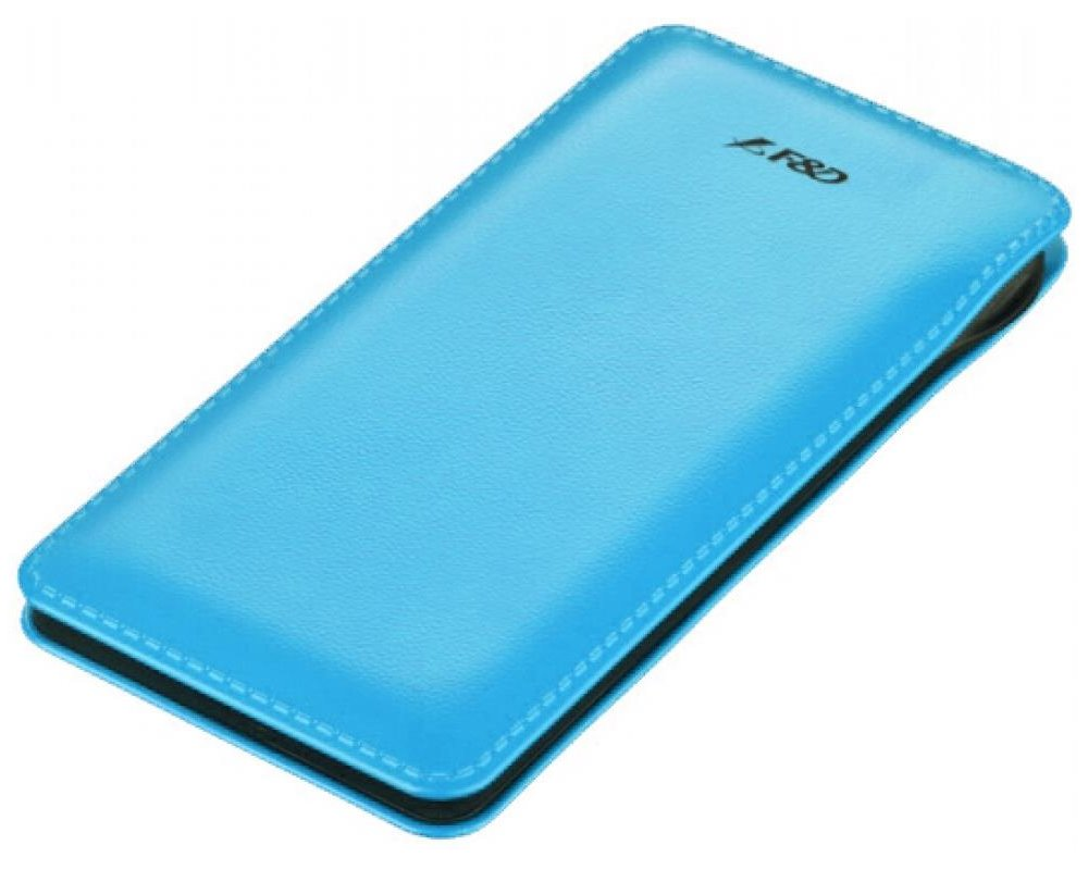 FENDA F&D Power bank Slice T2/ 8000 mAh/ modrá/ design kůže