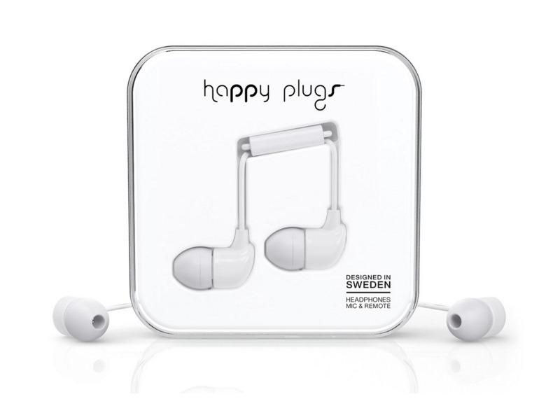 Happy Plugs In-Ear White sluchátka/mikrofon/příjem hovoru/3,5mm