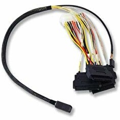 LSI internal cable 0.6 m Mini-SAS HD (SFF-8643) to 4x SAS with power (SFF-8482)