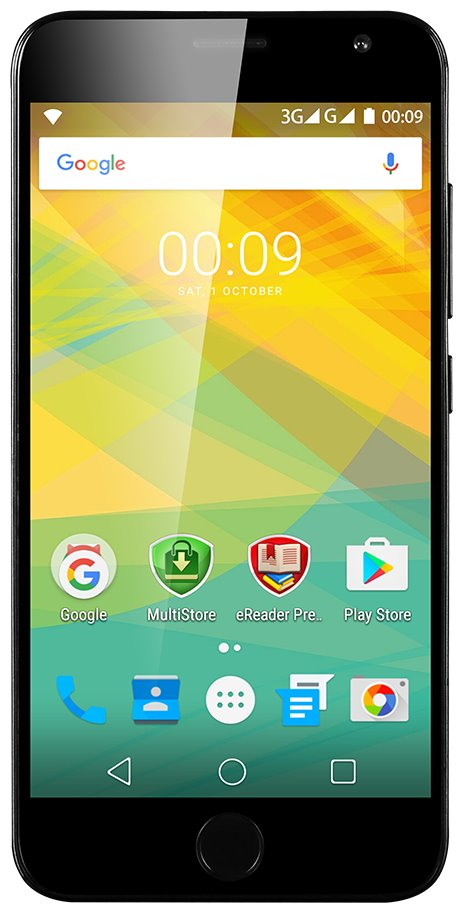 "PRESTIGIO Grace R7, 5.26"" HD IPS, Dual SIM, Android 6.0, 1,3GHz QC, 1280*720, 16GB ROM,2GB RAM, 13Mpx, fingerprint,černý"