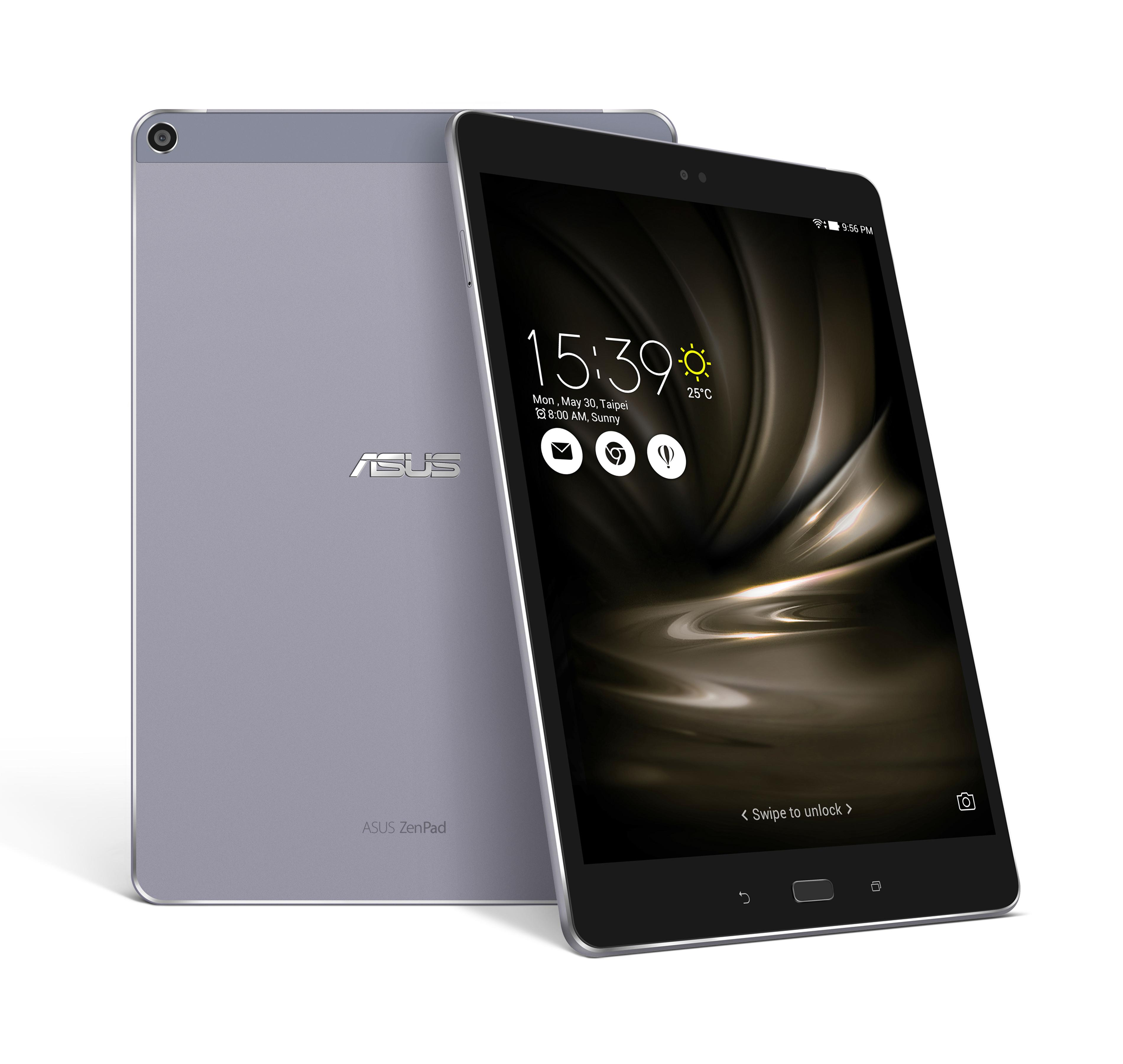 "ASUS PAD ZenPad 3S 10 LTE - Qualcomm MSM8956, 9.7"" IPS, 2048x1536, 4G, 64G, WiFi, BT, Android M, šedý"
