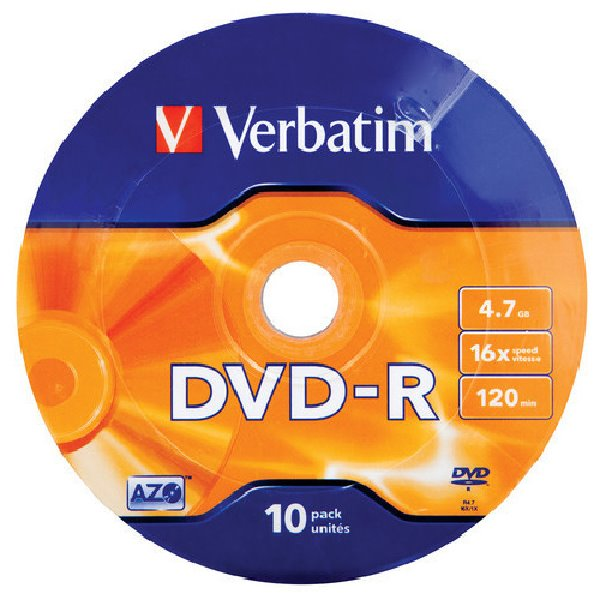 VERBATIM DVD-R 4,7GB/ 16x/ MATT SILVER/ 10pack/ bulk box