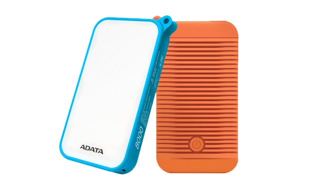 ADATA D8000L Power Bank 8000mAh modrá - outdoor LED svítilna