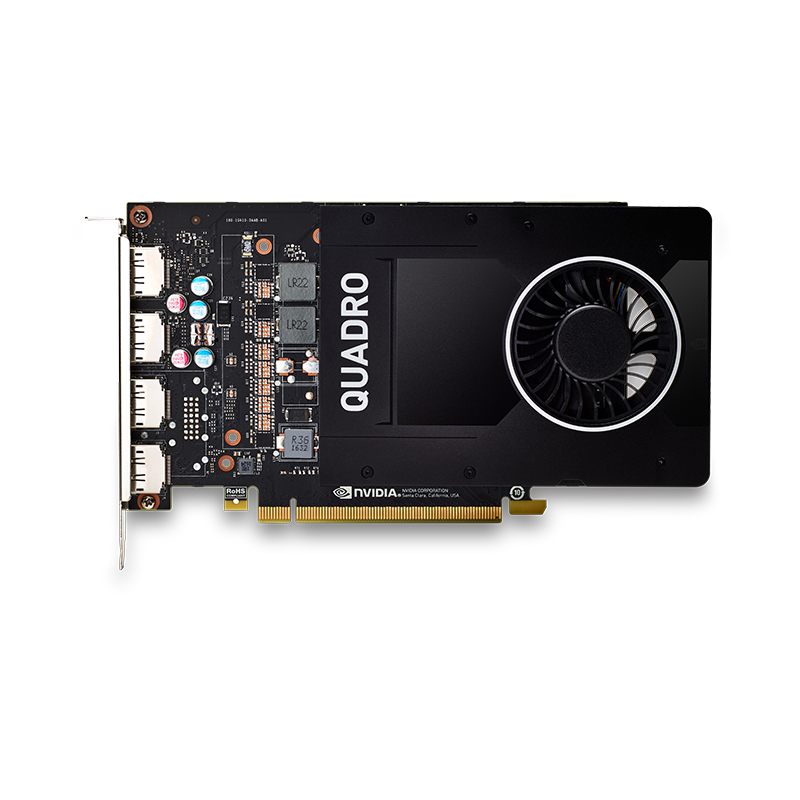 NVIDIA Quadro P2000 5GB GDDR5, PCIe 3.0 Card, 4x display port