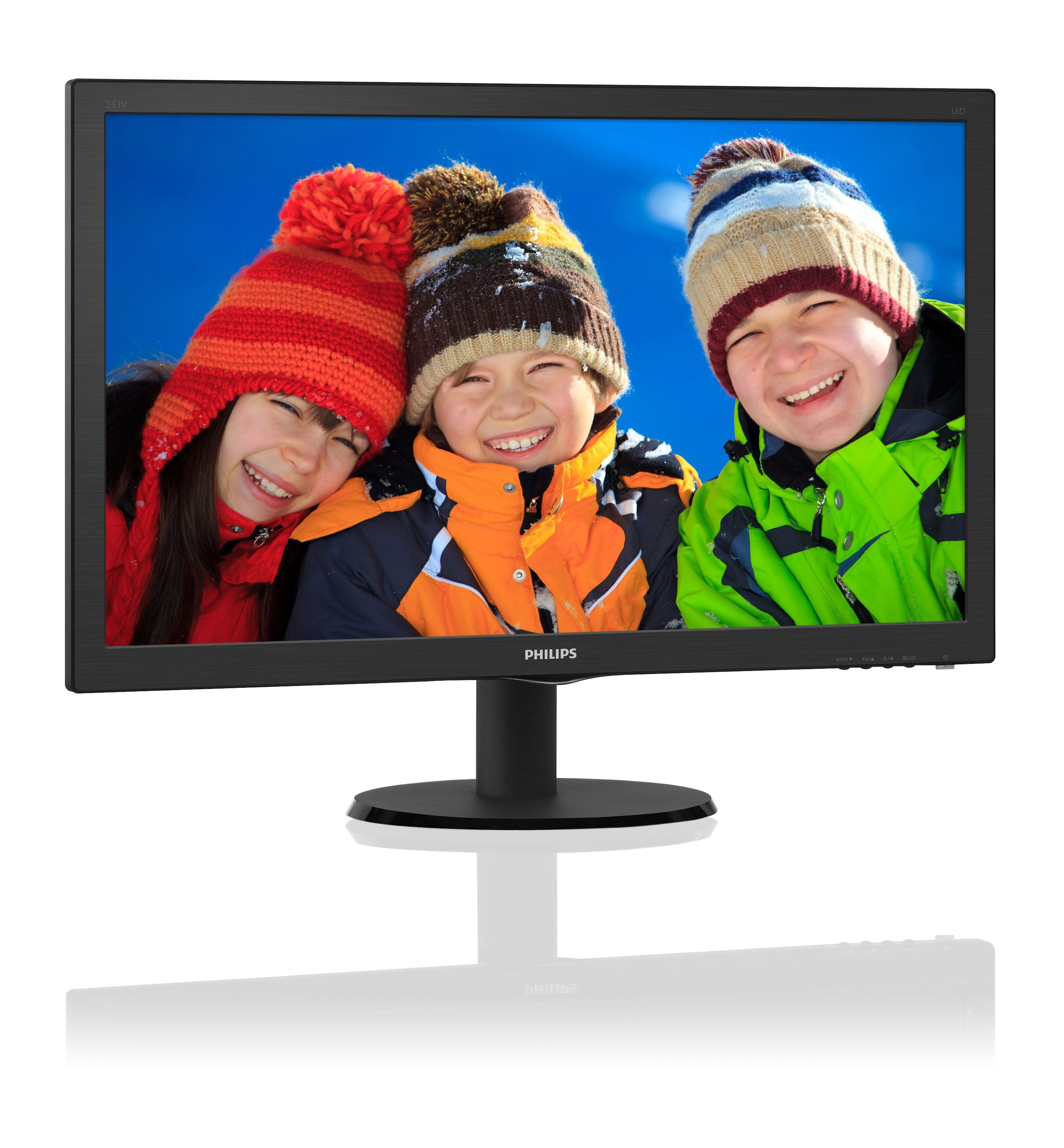 "Philips 243V5LHSB5/00 23.6"" LED 1920x1080 10 000 000:1 1ms 250cd HDMI DVI cierny"