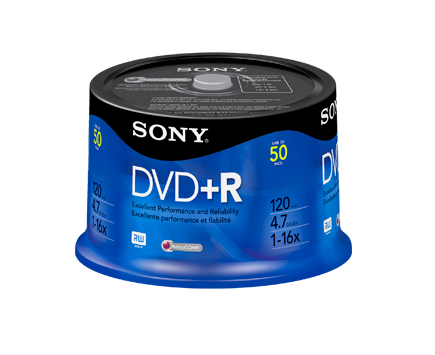 SONY DVD+R 4,7GB, 50 ks, bulk
