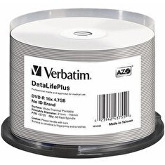 Verbatim DVD-R | cakebox 50 | 4.7GB | 16x | Thermal Printable ]