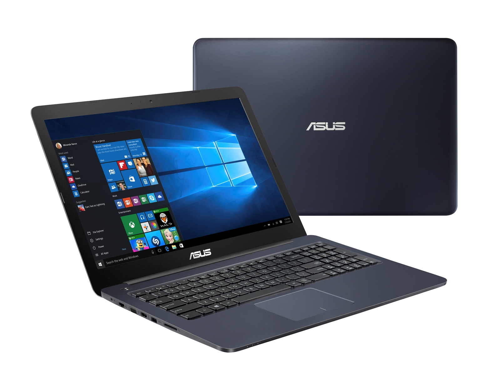 "ASUS E502NA-GO021T Celeron N3350/4GB/500GB/Share Graphics/15,6"" HD LED matný/W10 Home/Blue"